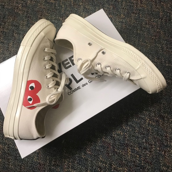 Comme des Garcons Converse White Red Heart (Limited Edition